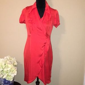 Banana Republic red silk dress